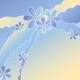 bakgrundsblommaillustration arkivfoton