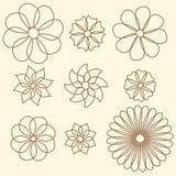 bakgrundsblomman blommar tappning vektor illustrationer