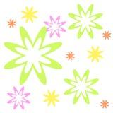 bakgrundsblommor vektor illustrationer