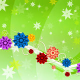 Bakgrundsblommor föreställer vridningbakgrunder och flora Royaltyfri Fotografi