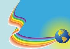 bakgrundsbluefärg Royaltyfri Illustrationer