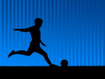 bakgrundsbluefotboll Royaltyfria Foton