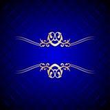 bakgrundsblueguld royaltyfri illustrationer