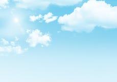 bakgrundsbluen clouds skyen Royaltyfria Foton