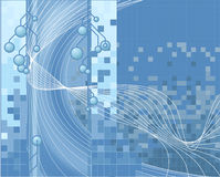 bakgrundsblueteknologi royaltyfri illustrationer