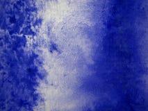 bakgrundsbluevattenfärg Arkivbilder