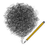 bakgrundsblyertspenna Arkivbild