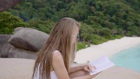 bakgrundsboken skapade ps-avläsningskvinnan arkivfilmer