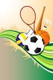 bakgrundsbollsportar Arkivfoto