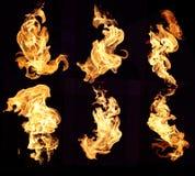 bakgrundsbrand flamm hög bildupplösning Arkivbilder