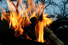 bakgrundsbrand flamm hög bildupplösning Royaltyfri Bild