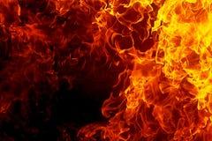 bakgrundsbrand flamm hög bildupplösning Original- flamma och grafisk effekt Royaltyfri Foto