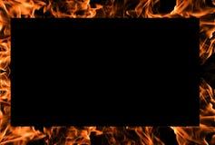 bakgrundsbrand flamm ramen Arkivbild