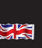 bakgrundsbritish flagga Royaltyfria Bilder