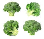 bakgrundsbroccoli isolerade white ny isolerad white för bakgrundsbroccoli closeup Fotografering för Bildbyråer