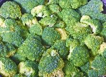 bakgrundsbroccolli Arkivfoto