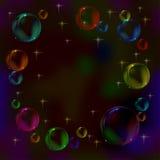 bakgrundsbubblor Arkivfoton