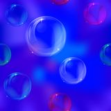 bakgrundsbubblor Stock Illustrationer
