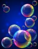 bakgrundsbubblor Fotografering för Bildbyråer