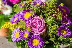 bakgrundsbuketter cards den dekorativa blom- vektorn för blommaillustration två Arkivfoto