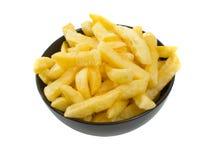 bakgrundsbunken chips varm over white Royaltyfri Bild