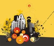 bakgrundsbyggnadsgrunge Arkivbild