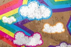 bakgrundscement clouds regnbågestjärnan Royaltyfri Foto