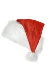 bakgrundsclaus hatt isolerad santa white Arkivbild
