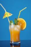 bakgrundsclippingcoctailen isolerade orange banawhite för mojito arkivfoton