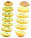 bakgrundsclosefrukt isolerade kiwien över övre white Royaltyfri Bild