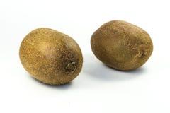bakgrundsclosefrukt isolerade kiwien över övre white Royaltyfri Foto