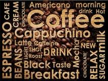 bakgrundscoffesorteringar Arkivbild