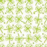 bakgrundsdagpatrick s st Sömlösa modellsymboler för vektor av Sts Patrick ferie liksom gröna treklöversidor vektor illustrationer