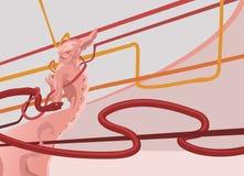 bakgrundsdemontechno Royaltyfri Illustrationer