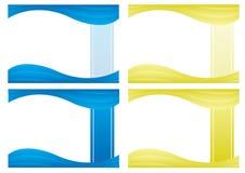 Bakgrundsdesign för baner och certifikat stock illustrationer