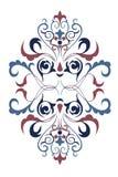 Bakgrundsdesign med den regionala prydnaden Royaltyfri Bild