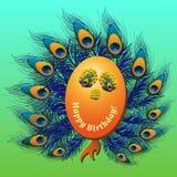 Bakgrundsdesign med påfågelfjädrar Arkivfoto