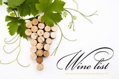 bakgrundsdesignlista till wine Arkivbild