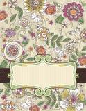 bakgrundsdraw blommar handvektorn Royaltyfri Fotografi