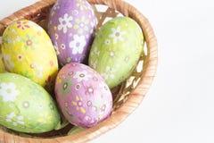 bakgrundseaster ägg ställde in tre Arkivfoton