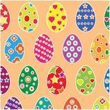 bakgrundseaster ägg ställde in tre Arkivbild