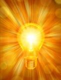 bakgrundsenergilightbulb Royaltyfria Bilder