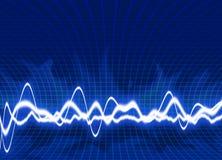 bakgrundsenergiwaves Arkivbild