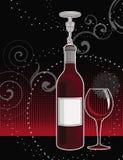 bakgrundsexponeringsglasrött vin Royaltyfria Foton