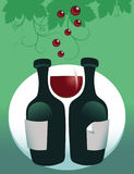 bakgrundsexponeringsglasrött vin Arkivfoton