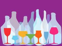 bakgrundsexponeringsglasrött vin Arkivfoto
