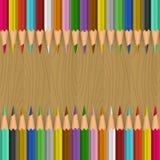 bakgrundsfärg pencils vektorn Arkivbilder