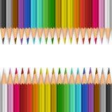 bakgrundsfärg pencils vektorn Fotografering för Bildbyråer