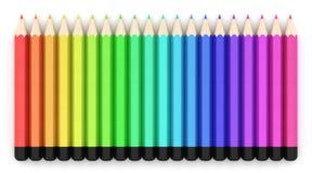 bakgrundsfärg pencils white Royaltyfria Bilder