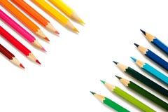 bakgrundsfärg pencils white Royaltyfri Foto